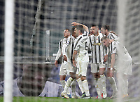 Calcio, Serie A: Juventus FC - S.S.Lazio, Turin, Allianz Stadium, March 6, 2021.<br /> Juventus' Adrien Rabiot (second R) celebrates after scoring with his teammates during the Italian Serie A football match between Juventus and Lazio at the Allianz stadium in Turin, on March 6, 2021.<br /> UPDATE IMAGES PRESS/Isabella Bonotto
