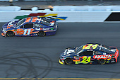 Monster Energy NASCAR Cup Series<br /> Daytona 500<br /> Daytona International Speedway, Daytona Beach, FL USA<br /> Sunday 18 February 2018<br /> Denny Hamlin, Joe Gibbs Racing, FedEx Express Toyota Camry, William Byron, Hendrick Motorsports,AXALTA Chevrolet Camaro<br /> World Copyright: John K Harrelson<br /> LAT Images