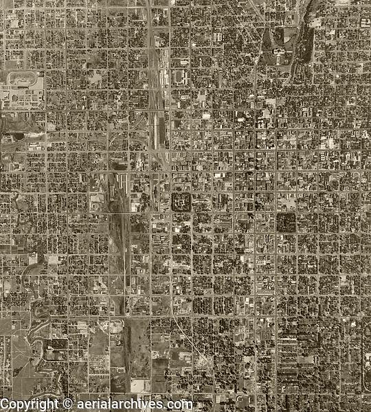 aerial photograph Salt Lake City, Utah, 1950