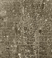 aerial photograph Salt Lake City, Utah, 1950