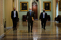 United States Senate Majority Leader Mitch McConnell (Republican of Kentucky) walks to the Senate Floor at the United States Capitol in Washington D.C., U.S., on Wednesday, May 20, 2020.  Credit: Stefani Reynolds / CNP/AdMedia