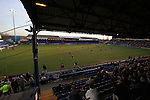 Stockport County 2 Rushden & Diamonds 2, 22/01/2006. Edgeley Park, League Two. Stockport County versus Rushden & Diamonds, Coca-Cola Football League Two at Edgeley Park, Stockport. With the teams occupying the bottom two places in the Football league, points were vital in home club's Jim Gannon's first game in charge as manager. The match ended 2-2. Picture shows County's Harpal Singh attacking in front of the main stand.<br />  Photo by Colin McPherson.