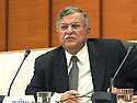 France 2002.Conférence de l' opposition kurde irakienne à Paris.Jalal Talabani.France 2002.Kurdish Iraki Opposition Conference in Paris.Jalal  Talabani