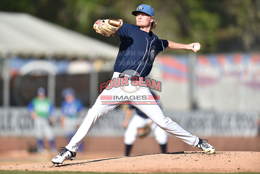 Asheville Tourists starting pitcher Sam Howard (32) delivers a pitch during a game against the Lexington Legends on May 2, 2015 in Asheville, North Carolina. The Legends defeated the Tourists 12-3. (Tony Farlow/Four Seam Images)