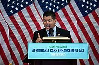 United States Representative Raul Ruiz (Democrat of California) speaks during a news conference on the Affordable Care Enhancement Act at the United States Capitol in Washington D.C., U.S., on Wednesday, June 24, 2020.  Credit: Stefani Reynolds / CNP/AdMedia
