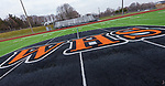 WATERTOWN, CT-011321JS02- WHS is at the 50-yard line on the John Mills Field at Watertown High School. The mascot committee is recommending the Watertown Board of Education replace the Indian mascot with Warrior. <br /> Jim Shannon Republican-American