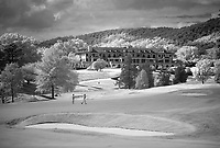 Photographed using an infrared camera-Full Cry, the new Pete Dye-designed golf course, opened for play September 16, 2014 at Keswick Hall in Keswick, Va. Photo/Andrew Shurtleff