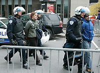 Montreal (Qc) CANADA -Oct 22 2009 - Protest against George W Bush speech at The Queen ElizAbeth Hotel