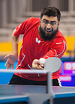 Toronto, ON - Aug 8 2015 - Asad Syed competes in Group A MS9 table tennis in the ATOS Markham Centre during the Toronto 2015 Parapan American Games  (Photo: Matthew Murnaghan/Canadian Paralympic Committee)