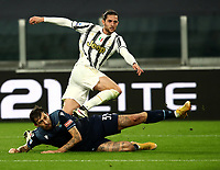 Calcio, Serie A: Juventus FC - S.S.Lazio, Turin, Allianz Stadium, March 6, 2021.<br /> Juventus' Adrien Rabiot (top) after scoring during the Italian Serie A football match between Juventus and Lazio at the Allianz stadium in Turin, on March 6, 2021.<br /> UPDATE IMAGES PRESS/Isabella Bonotto