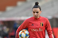 Nicky Evrard (21) of Belgium pictured during a Womens International Friendly game between Belgium , called the Red Flames and Norway at Koning Boudewijnstadion in Brussels , Belgium. Photo Sportpix.be / SPP