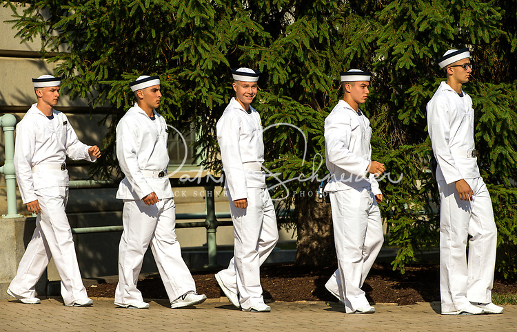 Photography of the U.S. Naval Academy , USNA class of 2021 Induction Day in Annapolis, Maryland. <br /> <br /> Charlotte Photographer - PatrickSchneiderPhoto.com