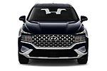 Car photography straight front view of a 2021 Hyundai Santa-FE SEL 5 Door SUV Front View