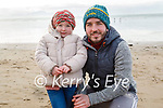 David and Fiadh Breen enjoying the beach in Ballyheigue on Sunday.