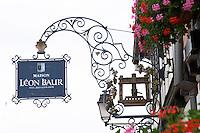 wrought iron sign leon baur eguisheim alsace france