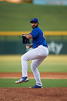 AZL Cubs 1 relief pitcher Emilio Ferrebus (41) during an Arizona League game against the AZL Giants Orange on July 10, 2019 at Sloan Park in Mesa, Arizona. The AZL Giants Orange defeated the AZL Cubs 1 13-8. (Zachary Lucy/Four Seam Images)