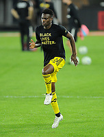 WASHINGTON, DC - OCTOBER 28: Fatai Alashe #26 of Columbus Crew SC during a game between Columbus Crew and D.C. United at Audi Field on October 28, 2020 in Washington, DC.