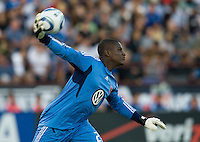 DC United goalkeeper Bill Hamid in action during the game against the Earthquakes at Buck Shaw Stadium in Santa Clara, California on July 30th, 2011.   DC United defeated San Jose Earthquakes, 2-0.
