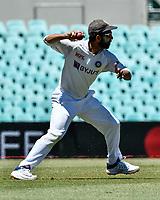 10th January 2021; Sydney Cricket Ground, Sydney, New South Wales, Australia; International Test Cricket, Third Test Day Four, Australia versus India; Ajinkya Rahane of India throws the ball