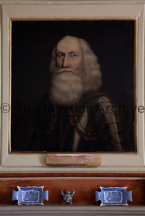 General Tam untrimmed hangs above the fireplace in the Blue Room