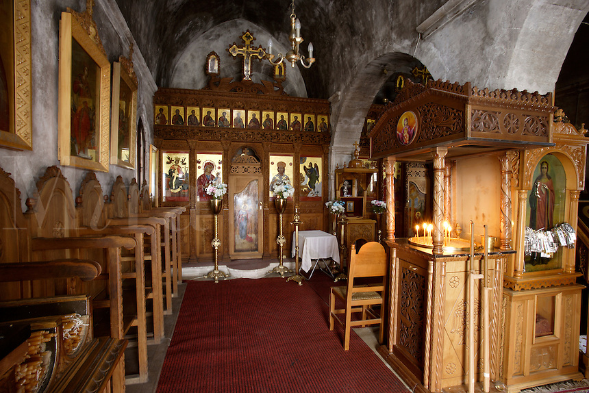 Greece. Western Crete. Chania Old Town..Inside the Venetian Church of Ayii Anargyri