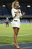Tv presenter Diletta Leotta at work prior to the Serie A football match between SSC  Napoli and US Sassuolo at stadio San Paolo in Naples ( Italy ), July 25th, 2020. Play resumes behind closed doors following the outbreak of the coronavirus disease. <br /> Photo Cesare Purini / Insidefoto