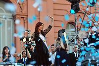BUENOS AIRES, ARGENTINA, 10 DEZEMBRO 2011 - POSSE CRISTINA KIRCHNER PRESIDENCIA ARGENTINA - Cristina Fernandez de Kirchner é vista em frente a Casa Rosada, sede do governo Argentino. Kirchner assumiu o seu segundo mandato como presidente eleita da Argentina, na tarde deste sábado, em Buenos Aires, capital da Argentina. Aos 58 anos de idade, Cristina é a primeira mulher a ser reeleita presidente na história da América Latina. (FOTO: PATRICIO MURPHY - NEWS FREE).