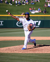 Oscar De La Cruz - Chicago Cubs 2020 spring training (Bill Mitchell)