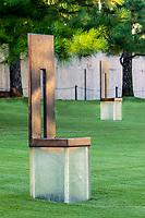 Oklahoma City, Oklahoma, USA.  OKC National Memorial Chair Honoring One Killed.