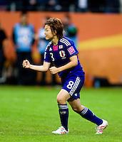Aya Miyama.  Japan won the FIFA Women's World Cup on penalty kicks after tying the United States, 2-2, in extra time at FIFA Women's World Cup Stadium in Frankfurt Germany.