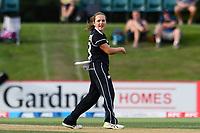 23rd February 2021, Christchurch, New Zealand;  Amelia Kerr of New Zealand during the 1st ODI Cricket match, New Zealand versus England, Hagley Oval, Christchurch, New Zealand