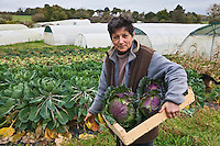 Europe/France/Bretagne/56/Morbihan/Baden:  Betty Maheo - Agricultrice  bio - Les Bio de Baden Ferme Biologique
