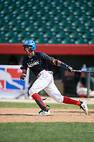 Adrian Tejeda (8) during the Dominican Prospect League Elite Underclass International Series, powered by Baseball Factory, on August 1, 2017 at Silver Cross Field in Joliet, Illinois.  (Mike Janes/Four Seam Images)