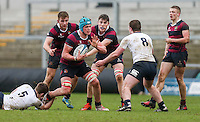 Tuesday 28th February 2017 | ULSTER SCHOOLS CUP SEMI-FINAL<br /> <br /> Bradley Luney during the Ulster Schools Cup Semi-Final between MCB and BRA at Kingspan Stadium, Ravenhill Park, Belfast, Northern Ireland. <br /> <br /> Photograph by John Dickson | www.dicksondigital.com