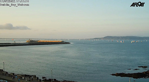 Despite some obvious limitations, the Afloat live Dublin Bay webcams captured the big DBSC turnout in Scotsman's Bay
