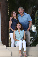 April, 17, 2021. San Diego. USA.|  Mark, Mel and Claire Carrillo at Balboa Park. | Jamie Scott Lytle. Copyright.