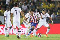 Pasadena, CA - Tuesday June 07, 2016: Paraguay forward Jorge Benítez (7) during a Copa America Centenario Group A match between Colombia (COL) and Paraguay (PAR) at Rose Bowl Stadium.