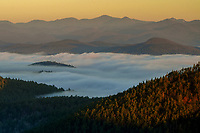 Morning Fog As Seen From The Summit Of Rock Pond Mt In The Adirondack Mountains Of New York State Of New York State