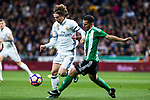 Luka Modric of Real Madrid in action  during the match of Spanish La Liga between Real Madrid and Real Betis at  Santiago Bernabeu Stadium in Madrid, Spain. March 12, 2017. (ALTERPHOTOS / Rodrigo Jimenez)
