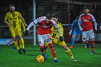 Fleetwood Town's forward Ash Hunter (22) during the Sky Bet League 1 match between Fleetwood Town and Burton Albion at Highbury Stadium, Fleetwood, England on 15 December 2018. Photo by Stephen Buckley / PRiME Media Images.