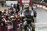World Champion Peter Sagan (SVK) Bora-Hansgrohe finishes the 2018 Strade Bianche Men Elite NamedSport race running 184km from Siena to Siena, Tuscany, Italy. 3rd March 2018.<br /> Picture: LaPresse/Fabio Ferrari | Cyclefile<br /> <br /> <br /> All photos usage must carry mandatory copyright credit (© Cyclefile | LaPresse/Fabio Ferrari)