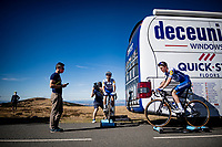 Julian Alaphilippe (FRA/Deceuninck-QuickStep) & Bob Jungels (LUX/Deceuninck-QuickStep) on the turbo after finishing up Mont Aigoual<br /> <br /> Stage 6 from Le Teil to Mont Aigoual (191km)<br /> <br /> 107th Tour de France 2020 (2.UWT)<br /> (the 'postponed edition' held in september)<br /> <br /> ©kramon