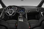Stock photo of straight dashboard view of 2018 Chevrolet Corvette Z06-Coupe-1LZ 3 Door Targa Dashboard