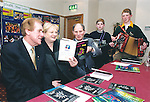 At the official launch of the Fleadh Nua programme at the Temple Gate Hotel in Ennis were Minister Sile DeValera with Labhras O'Murchu, ard stiurathoir CCE and Frank Whelan, Fleadh Nua chairman, as young musicians Steven and Paul Madden look on - May 5, 2000. Photograph by John Kelly