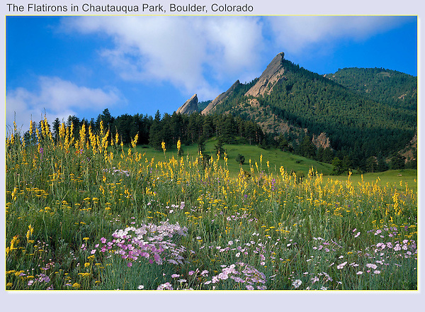 A less photographed view of Chautauqua Park.<br />