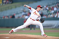 ***Temporary Unedited Reference File***Memphis Redbirds starting pitcher Deck McGuire (31) during a game against the Omaha Storm Chasers on May 5, 2016 at AutoZone Park in Memphis, Tennessee.  Omaha defeated Memphis 5-3.  (Mike Janes/Four Seam Images)