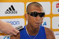 SAO PAULO, SP, 17 DE JUNHO DE 2012 - MARATONA SP 2012 - O vencedor da Maratona de SP, o brasileiro, Solonei Rocha da Silva, na chegada da Maratona de SP, na manha deste domingo, 17 de Junho. (FOTO: MILENE CARDOSO / BRAZIL PHOTO PRESS).