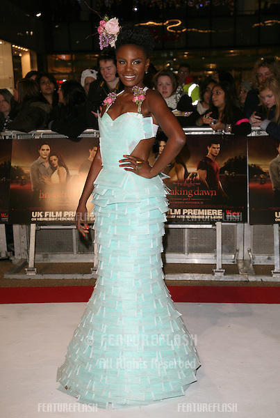 Shingai Shoniwa arriving for the UK premiere of The Twilight Saga: Breaking Dawn Part 1 at Westfield Stratford City, London. 17/11/2011 Picture by: Alexandra Glen / Featureflash