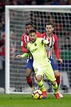 Club Atletico de Madrid's Thomas Lemar, Lucas Hernandez and Futbol Club Barcelona's Leo Messi  during La Liga match. November 24,2018. (ALTERPHOTOS/Alconada)