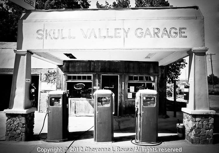 Skull Valley Gas Station - Arizona (BW)